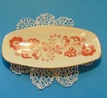 Zsolnay porcelán népművészeti mintás tálka