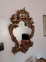 Barokk tükör angyalkákkal