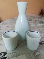 Jelzett porcelán italos szett