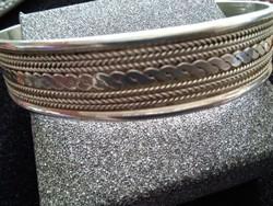 Kézi készítésű tömör ezüst karkötő 29 gr.