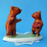 Bodrogkeresztúri kerámia labdázó medvék, maci