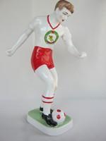 Hollóházi porcelán HONVÉD focista