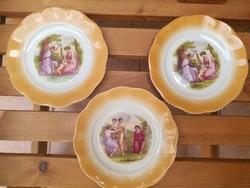 Zsolnay Angelika Kaufman porcelán tányér