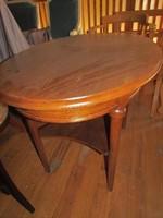 Ovál szalon asztal felújítva