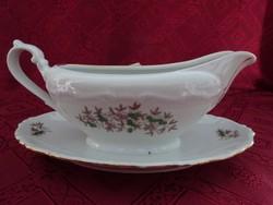 GEBRÜDER BENEDIKT ritka antik csehszlovák porcelán szószos tál alátéttel.