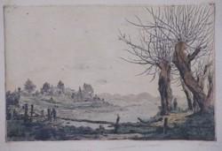 Gross Arnold - Völgy 19 x 30 cm rézkarc