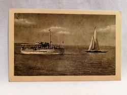 Hajó vitorlás Balaton képeslap