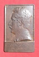 Telcs Ede vas plakett. Giacomo Puccini portréja 1906