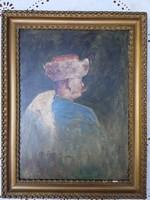 Mårk Lajos  (1890-ből) olaj festmény, fa lemezre festve 34x46cm, hagyatékból vásárólva.