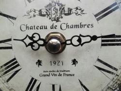 1921 felírattal, francia,két oszlopos asztali, kandalló óra.