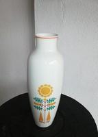 Ritka  Hollóházi váza, Nosztalgia, porcelán. Gyűjtői darab, 25 cm magas