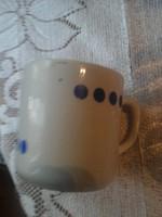 Zsolnay kék pettyes teás csésze