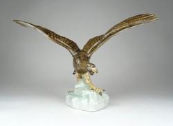 1A864 Nagyméretű Herendi porcelán turul madár 31 cm