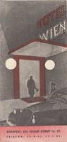 HOTEL WIEN BUDAPEST modernista, idegenforgalmi reklám 1936