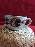 Majolika csésze  teás kerámia  jelzet hibátlan