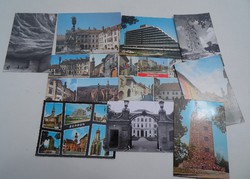 Helytörténeti ritkásság régi retro nosztalgia Soproni képeslap csomag