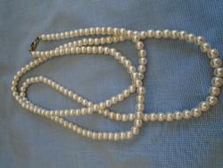 Szép állapotú tekla gyöngy nyaklánc aranyozott ékszer kapcsolóval 600 A POSTA