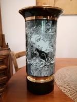 Hollóházi Szász Endre porcelán váza 30 cm,Adria