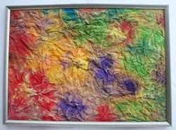 Hantai Simon - Fleurs Coloré (Színes virágok) című festménye