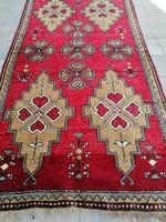 Kézi csomózású Török Yürük nomád szőnyeg.190x100cm.Alkudható!