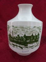 Alföldi porcelán emlék  váza, Szeged 1850. Magassága 16 cm.