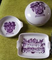 3 db retro alföldi porcelán