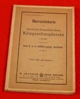 Lechners Kriegskarten IV - Übersichtskarte des deutsch-französischen Kriegsschauplatzes