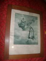 Egyházi kép régi keretben