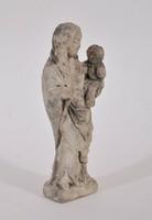 Gótikus Madonna, faragott kő szobor, 14. század