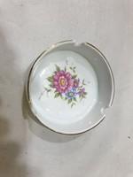 Hollóházi porcelán hamutartó