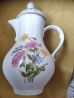Virágos kávés kanna csodaszép jelzett