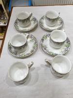 Ibolyás porcelán kávés készlet
