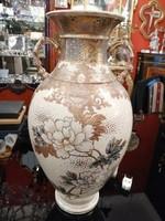 Kínai  nagy méretű váza 1920 évek. Kézzel festett. Ritkaság! F-24