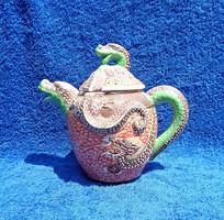 Kézzel festett japán sárkány motívumos teáskanna