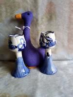 20234E Delft holland kézzel festett porcelán gyertyatartó pár