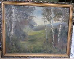 Nyírfa festmény