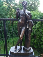 Mitológiai bronz szobor műtárgy