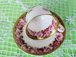 Gyűjtői gyönyörű angol rózsás kávés csésze