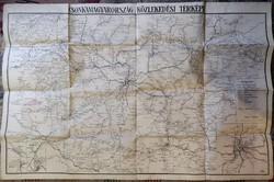 Csonkamagyarország közlekedési térképe.
