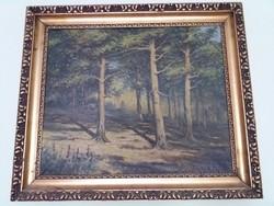 Kemenes Ernő fenyőerdő festmény