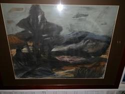 Mihályfi Mária szignóval Fekete fák
