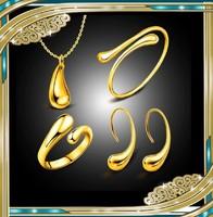 Gold Filled fülbevaló-nyaklánc szett GFSZ98