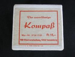 Retro német iránytű dobozában