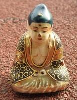 Antik több száz éves Buddha miniatúra szobor - kisplasztika