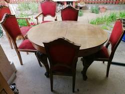 4 db szék és 2 db karfás fotel