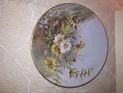 Antik kézzel festett fali tányér