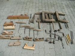 Antik asztalos szerszámok egy hagyatékból egyben eladók