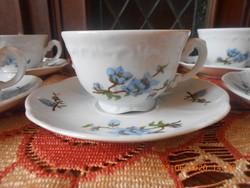 Zsolnay Barackvirág mintás kávés csészék 6 db