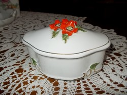 Alba Julia nagy porcelán bonbonier.