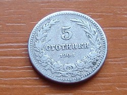BULGÁRIA 5 SZTOTINKI 1906 Krimnitz mint #  ( KEDVEZMÉNY LENT!!)
